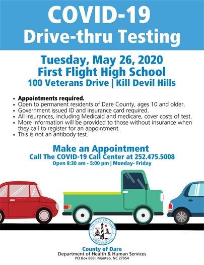 COVID-19 Drive-thru testing