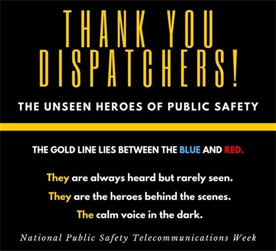 Thank you dispatchers