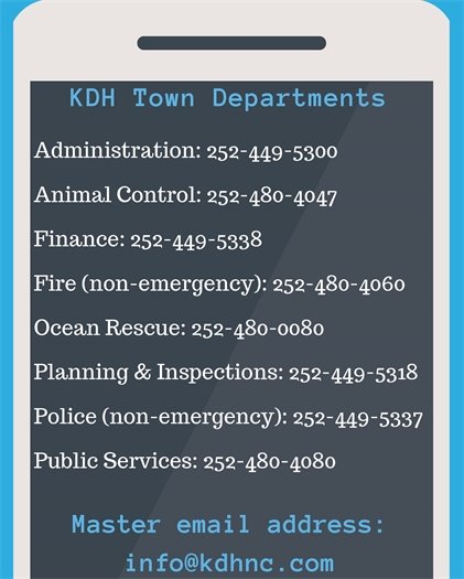 KDH Department Contacts