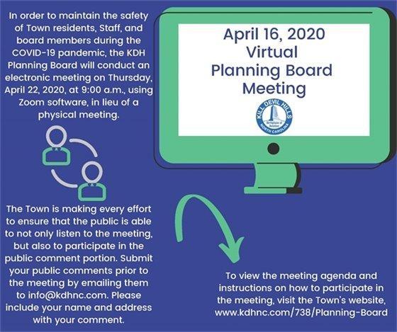 Virtual Planning Board Meeting