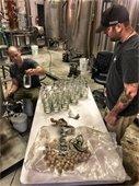 Outer Banks Distilling making sanitizer