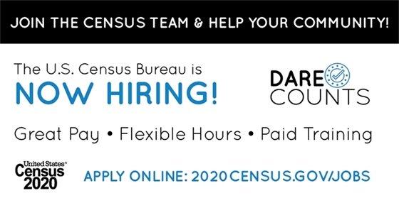 Dare Census Now Hiring