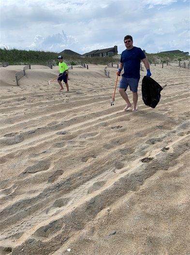Beach clean-up efforts in KDH