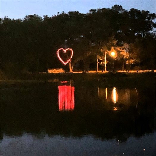 Heart on display at Aviation Park