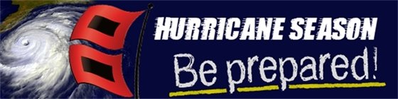 Hurricane Season - Be Prepared!