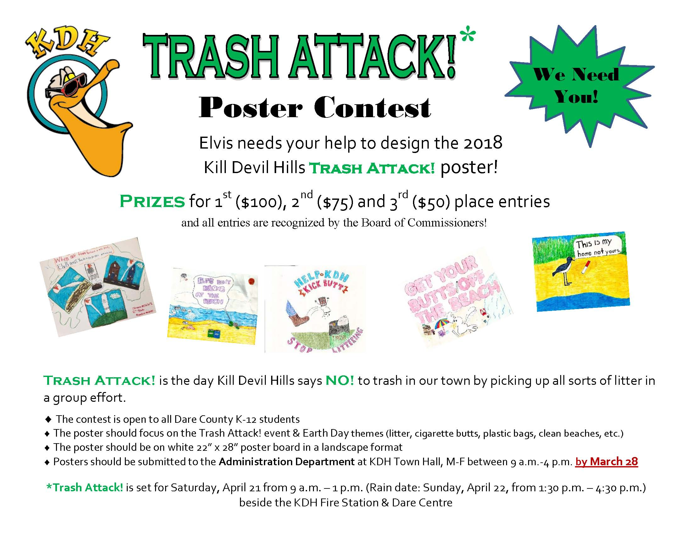 2018 KDH TA Poster Contest Flyer