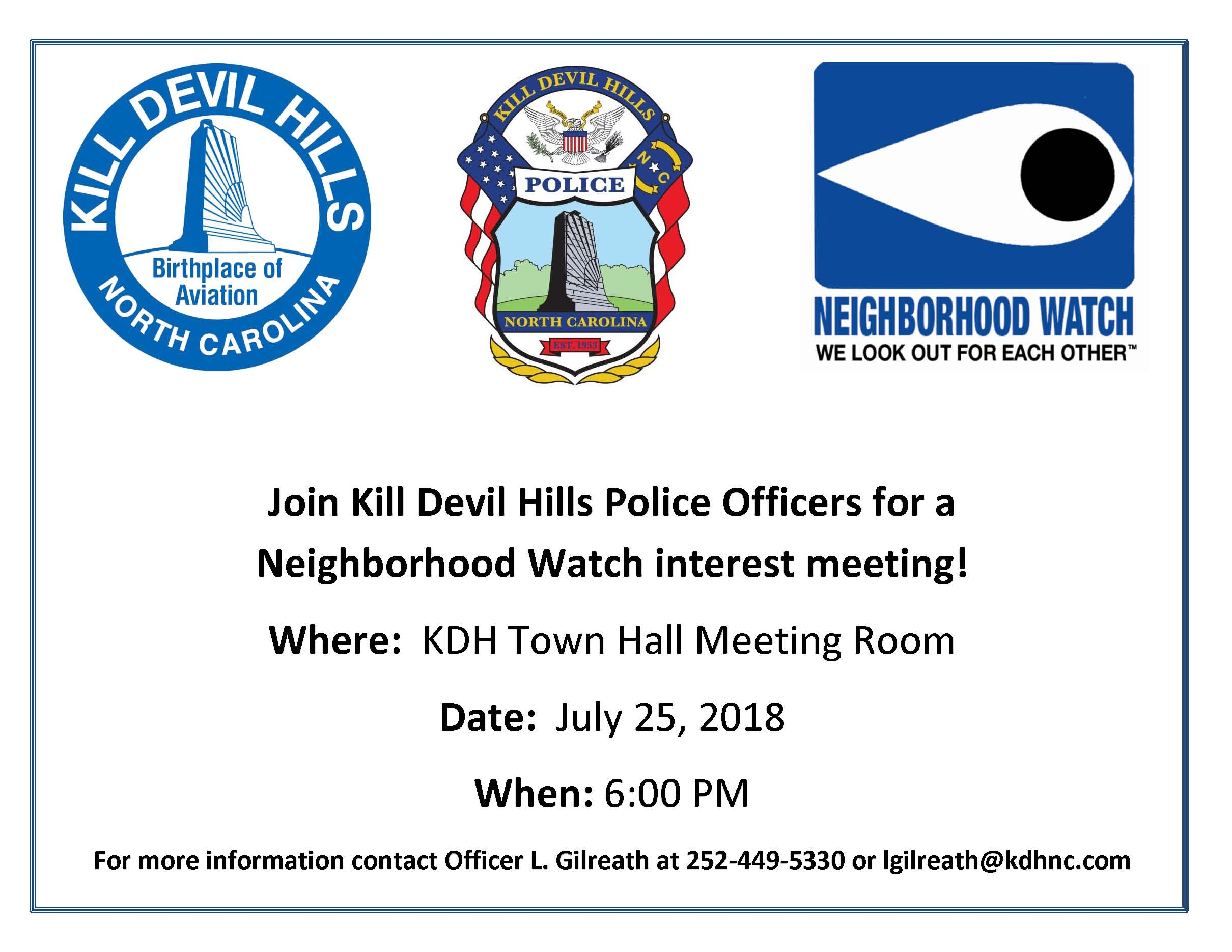 7.25.2018 Community Watch Meeting