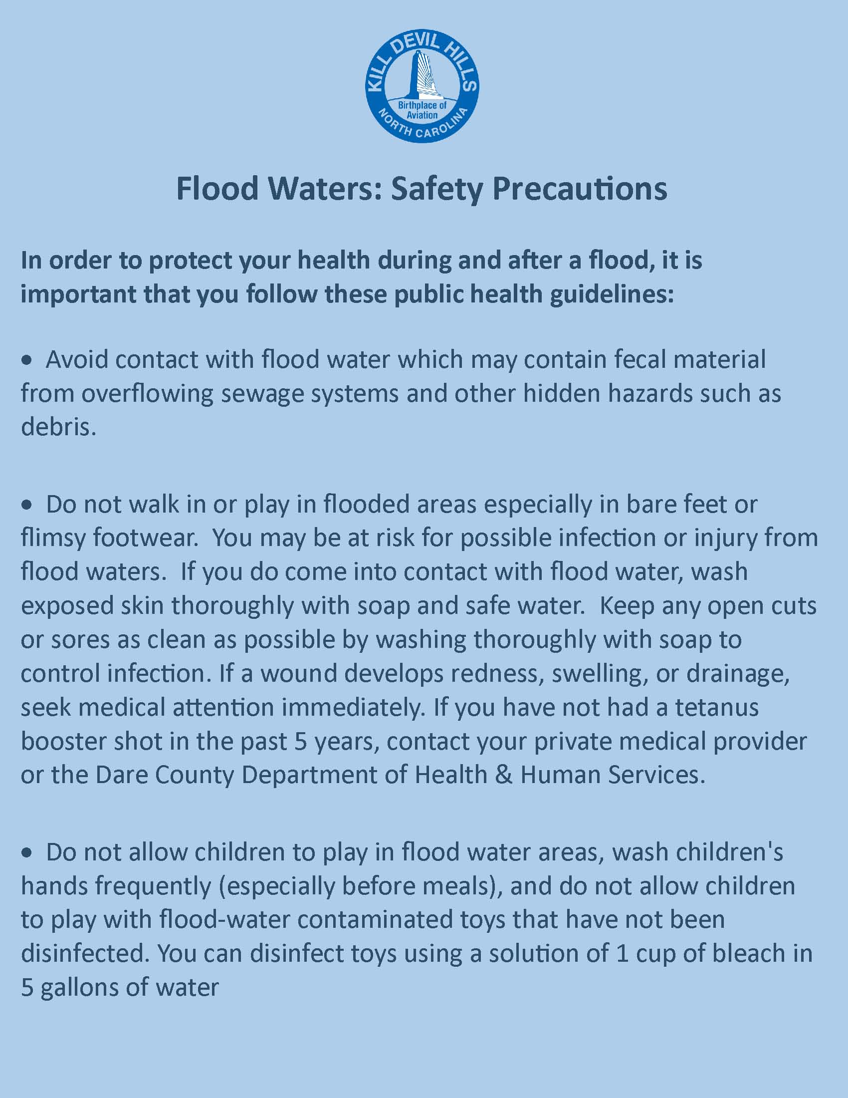 Flood Waters Safety Precautions
