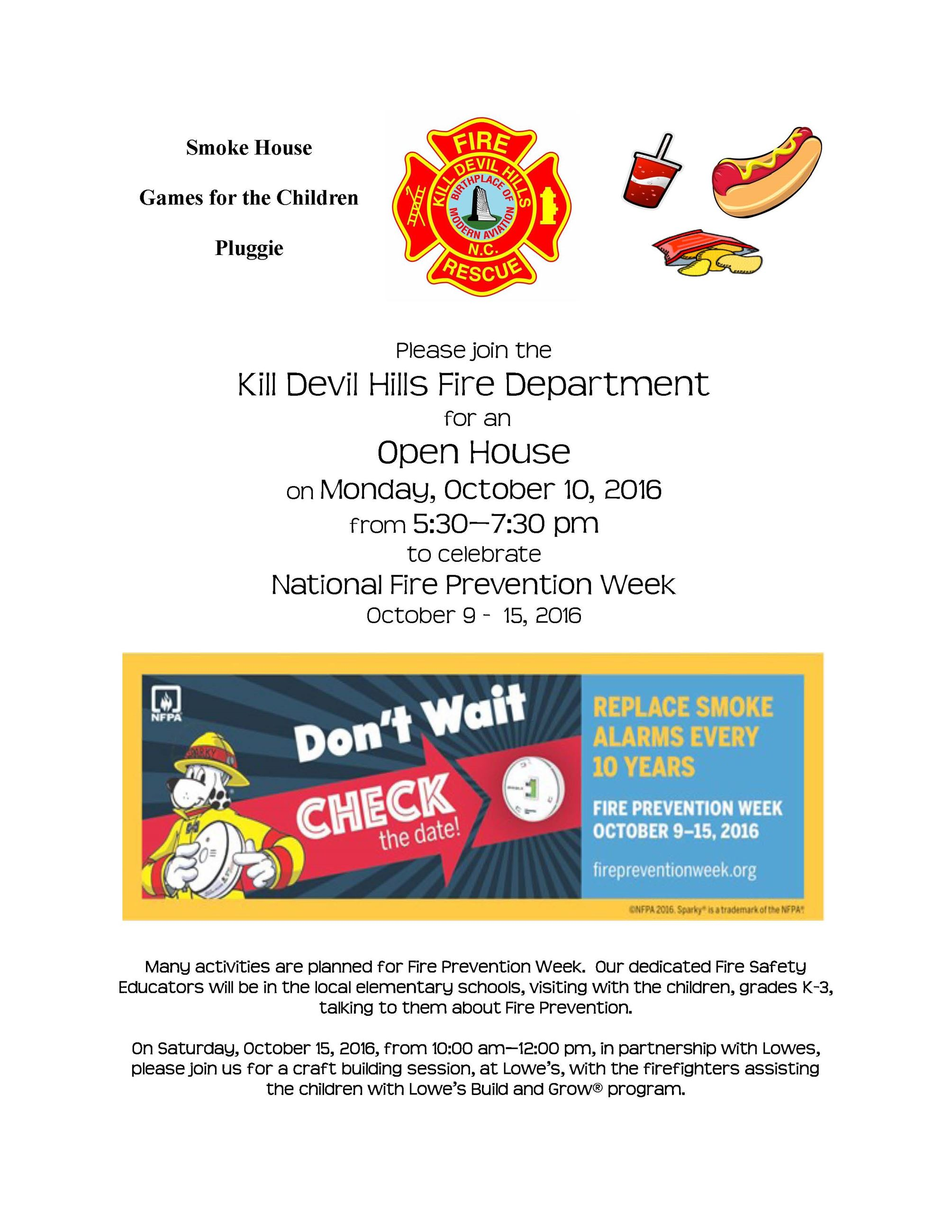 10.2016 KDH Fire Prevention Week Release