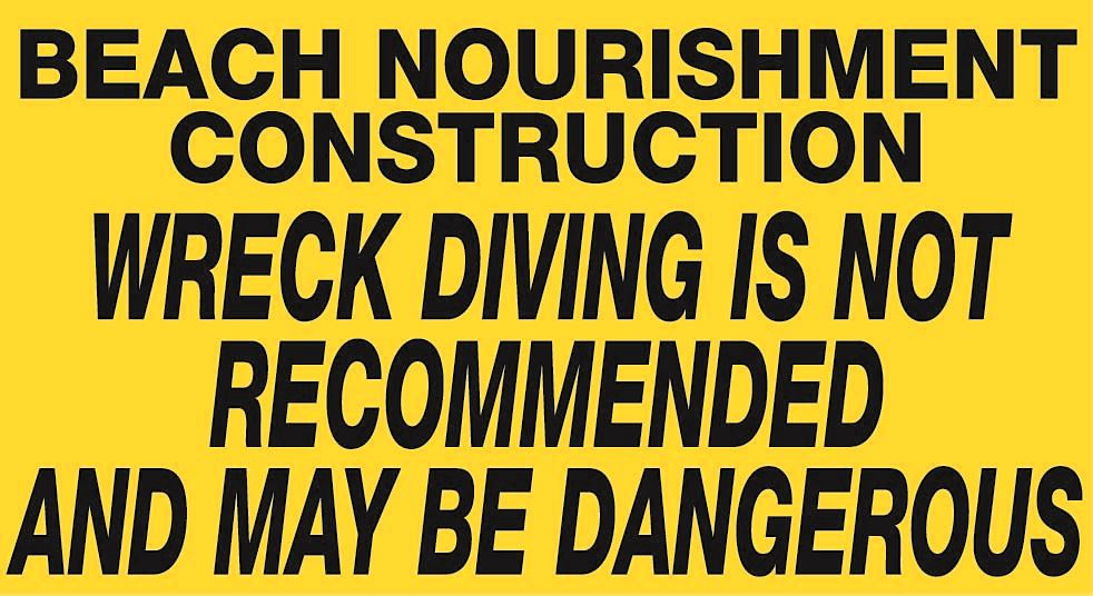beach renourisment diving