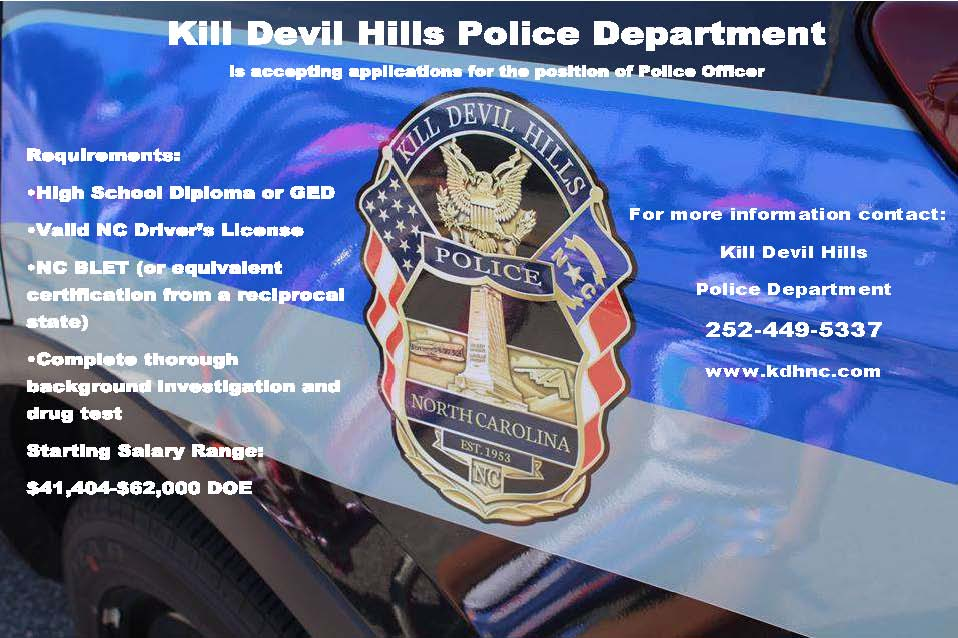 police department kill devil hills nc official website final recruit poster 2017