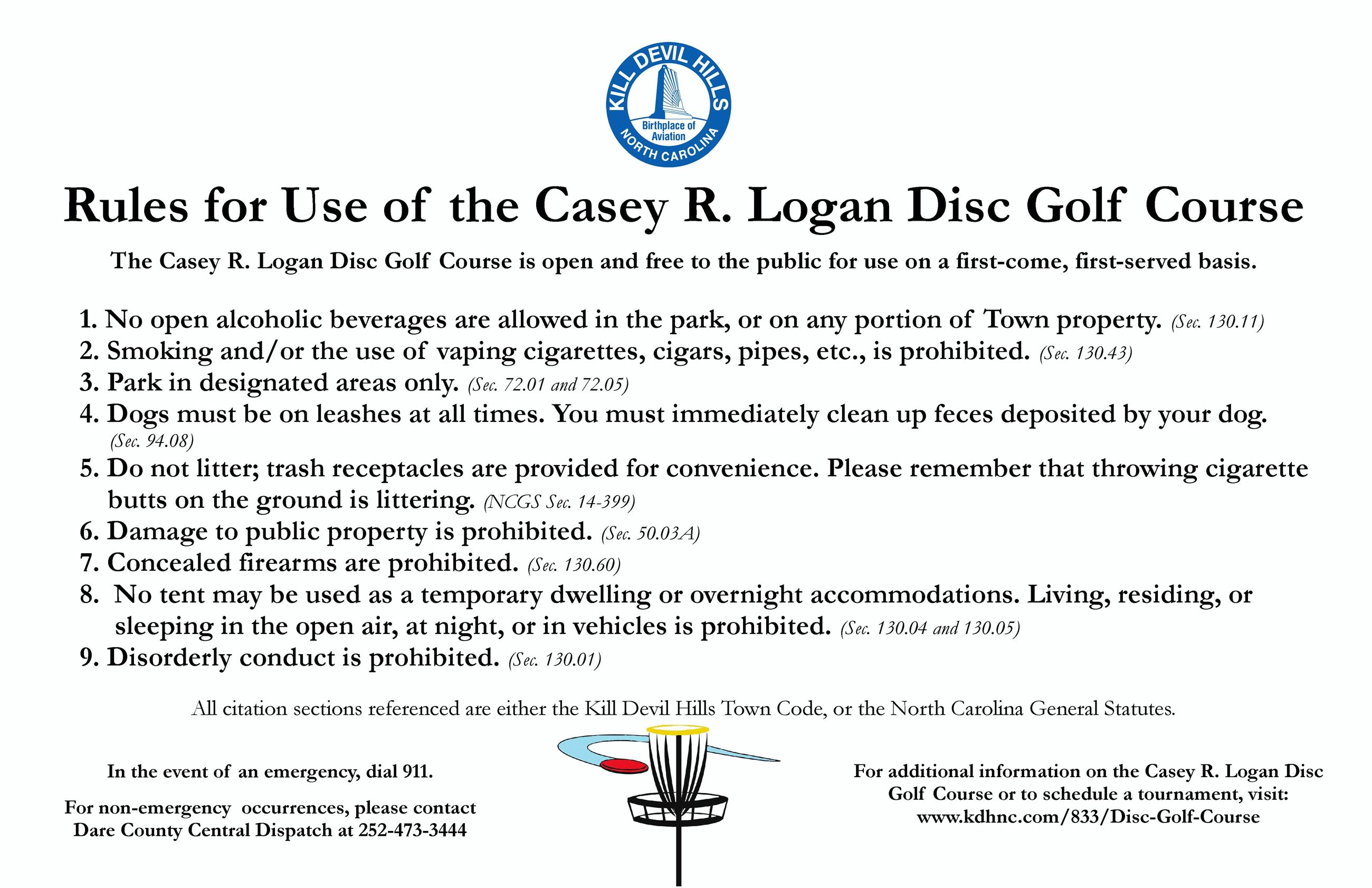 Casey R. Logan Disc Golf Sign